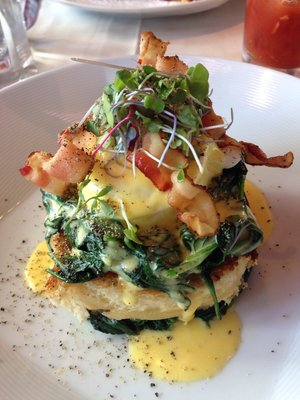 Bacon & Eggs Benedict with Spinach