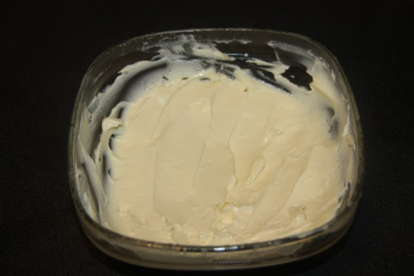 This is the epitome of homemade mayonnaise.